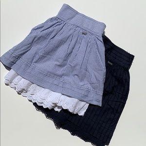 Hollister Cotton mini skirts navy stripes Size S